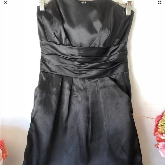 Davids Bridal Dresses Davids Bridal 10 Black Satin Bridesmaid